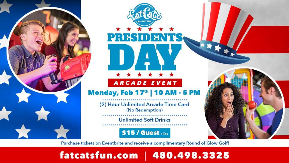 President S Day Event Fatcats Mesa Kids Out And About Phoenix